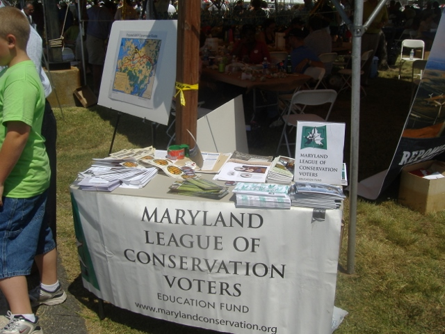 This was the first time I'd noticed the LCV at the Tawes event - most likely they found out Delmarva Power would have a presence. The chart in the background summarizes possible pathways for MAPP.