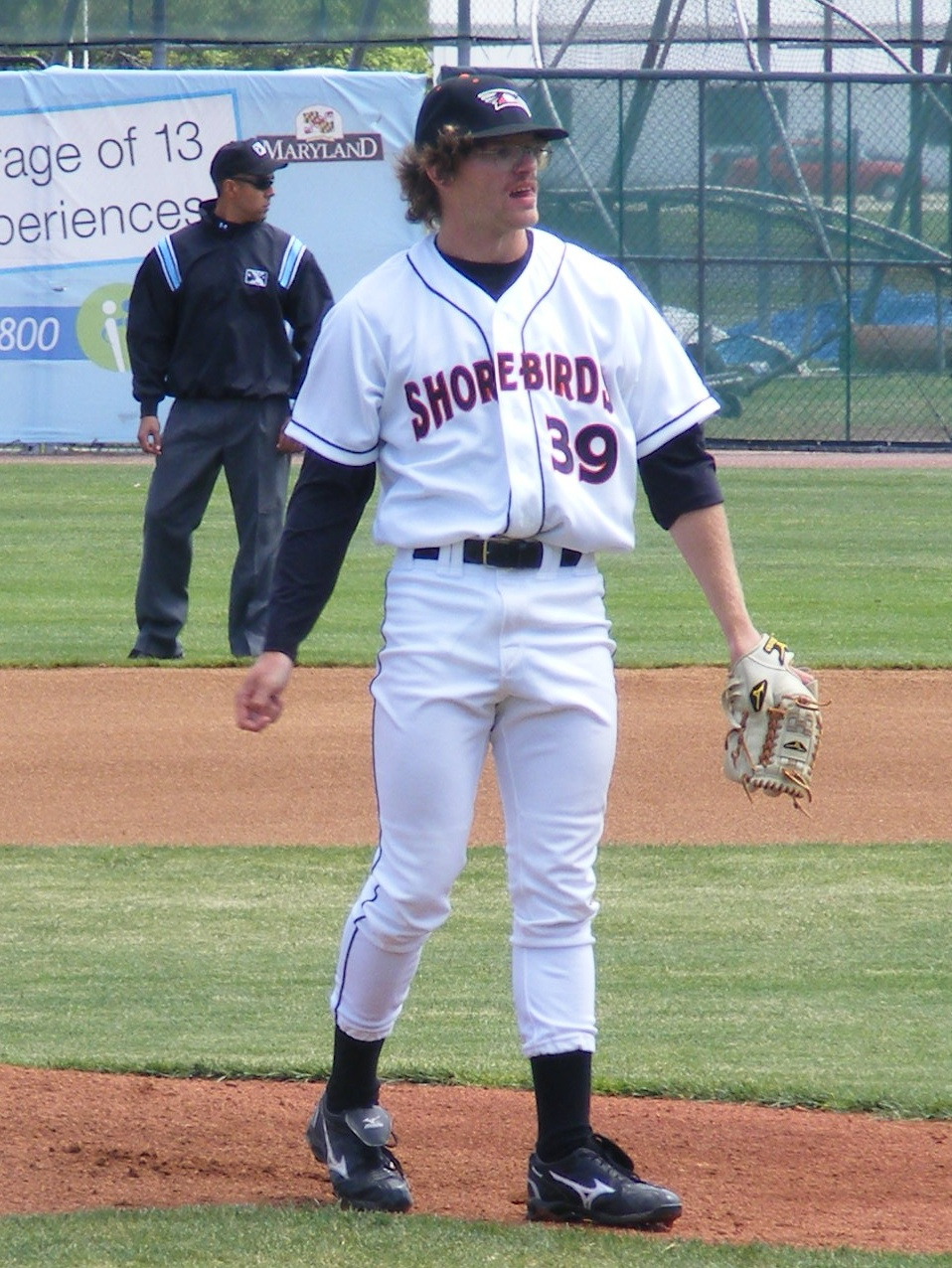 Ryan Berry warms up before his April 18 start against Hagerstown. It turned out to be a rough beginning as he allowed 4 runs in the opening frame but Ryan settled down to pitch 6 innings in an extra-inning 9-7 loss.