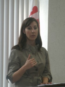 Delegate Jeannie Haddaway-Riccio gave us a report on the 2010 General Assembly session.