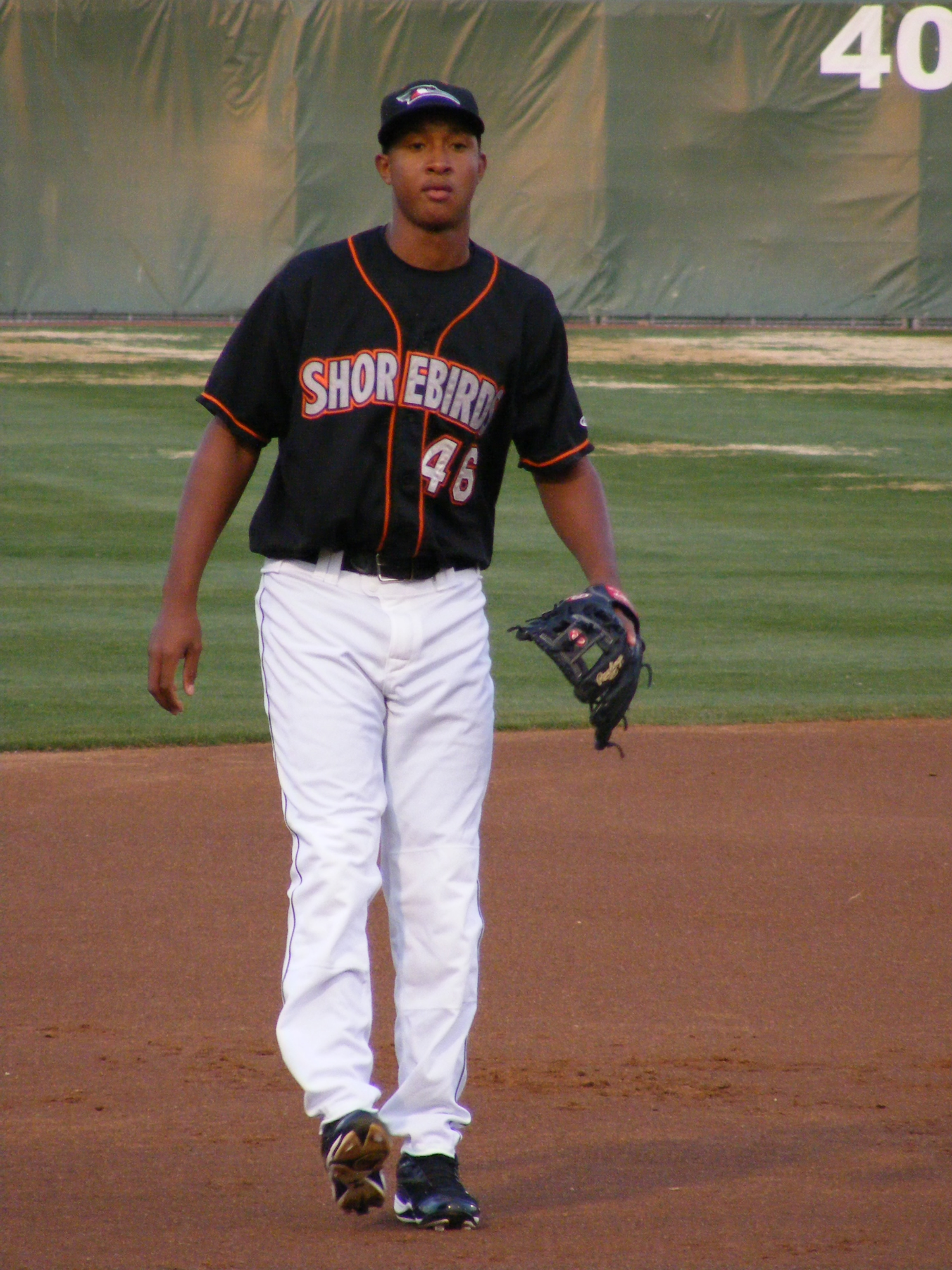 So far Schoop has been holding down third base in Ryan Minor's lineup.