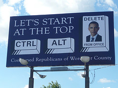 This billboard is along U.S. 13 near the Maryland-Virginia line.
