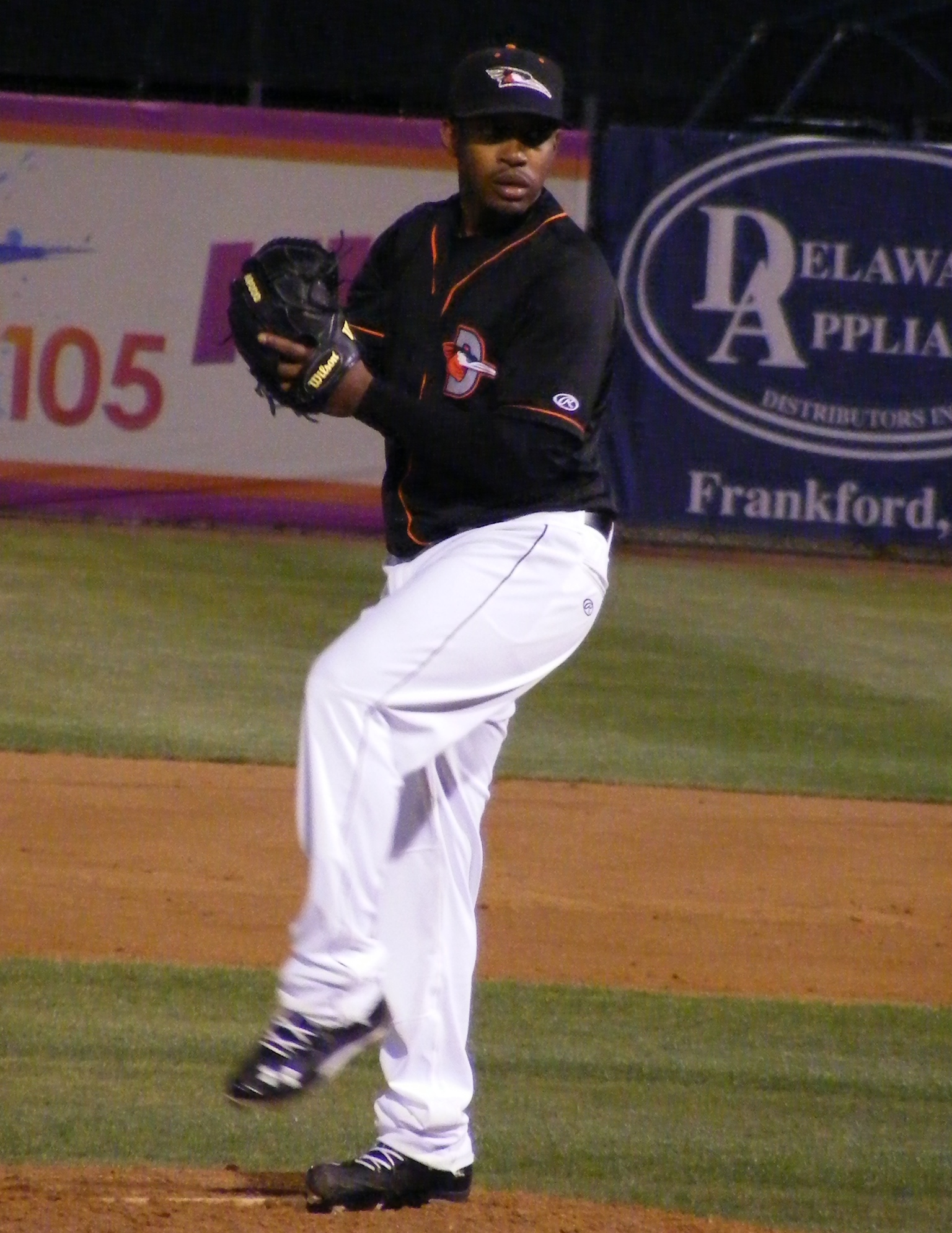 Mychal Givens pitching against Salisbury University, April 2, 2013.
