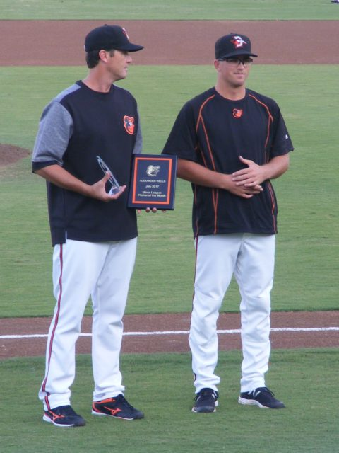 Alex Wells had a hardware collection going this season with the Shorebirds.